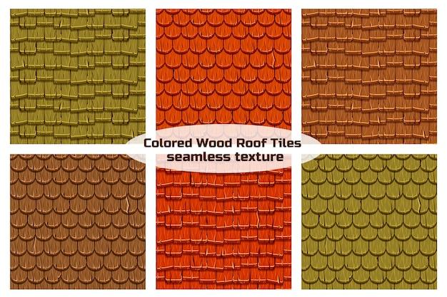 Mattonelle di tetto di legno vecchie senza cuciture