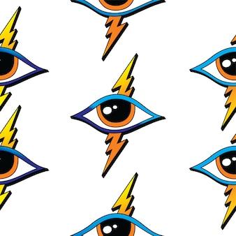 Seamless pattern di un occhio