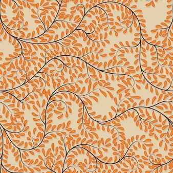 Priorità bassa floreale arancione senza giunte sull'illustrazione di vettore.
