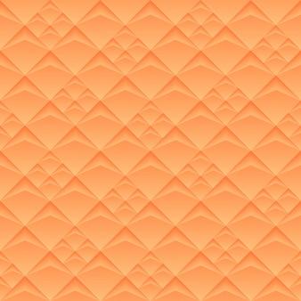 Insegna larga geometrica arancio senza cuciture di struttura