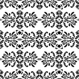 Motivo orientale senza cuciture grafica digitale bianco e neroper la progettazione di tessuti da parete
