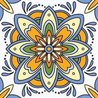 Sfondo di piastrelle ornamentali senza soluzione di continuità.