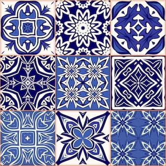 Motivo patchwork senza soluzione di continuità, piastrelle, ornamenti