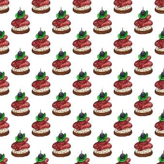 Seamless pattern di appetitosi tartine