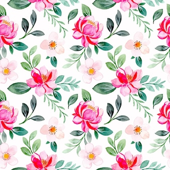 Modello senza cuciture di un bellissimo acquerello floreale rosa