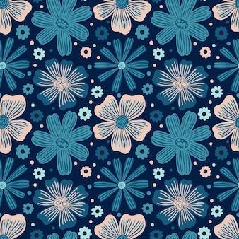 Modello senza cuciture botanico bocciolo floreale fiorenatura sfondo stampacarta da parati decorativa