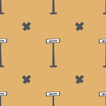 Modello senza soluzione di continuità. illustrazione disegnata a mano infantile del fumetto. scarabocchi colorati in una tavolozza limitata per la stampa di tessuti per bambini, imballaggi, carte da parati.