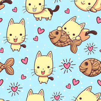 Gatti senza cuciture e prelibatezze taiyaki