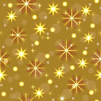 Modello senza cuciture decorazione natalizia ghirlanda al neon fiocchi di neve stelle decorazioni festive capodanno