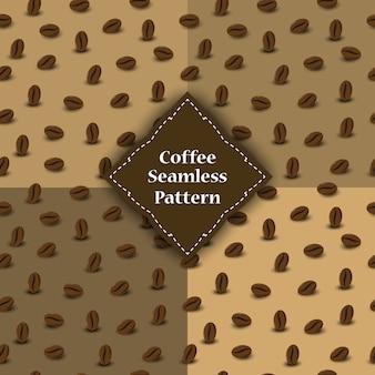 Modello senza cuciture di chicchi di caffè per involucro