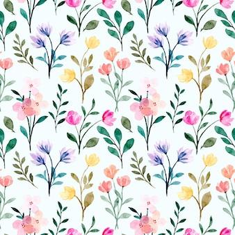 Modello senza cuciture dell'acquerello floreale selvatico colorato