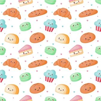 Seamless pattern carino dolce e dolce
