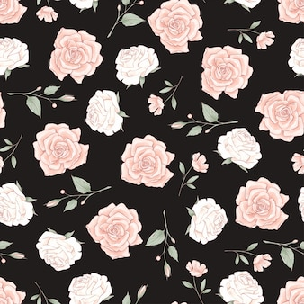 Seamless pattern di rose delicate.