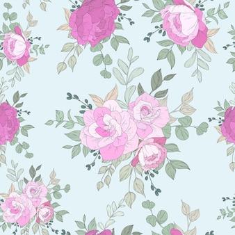 Design senza cuciture con bellissimi fiori