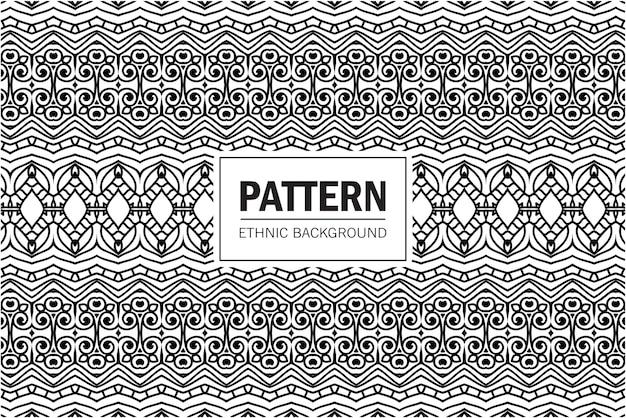 Modello senza cuciture in stile etnico. ornamento simmetrico geometrico. design per carta o tessuto.