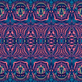 Psichedelico geometrico tribale etnico senza cuciture
