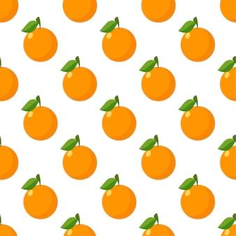 Modello senza cuciture flat orange Vettore Premium