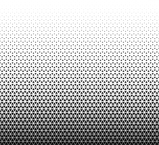 Modello senza cuciture geometrico triangoli neri su bianco.