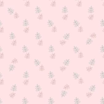 Piante astratte geometriche di sfondo rosa senza cuciture