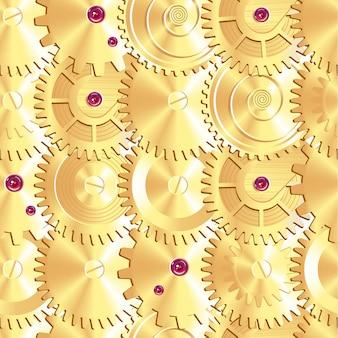 Modello senza giunture di ruote per orologi d'oro