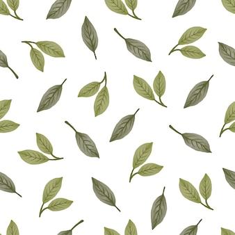 Modello senza cuciture di foglie verdi per lo sfondo e il design del tessuto