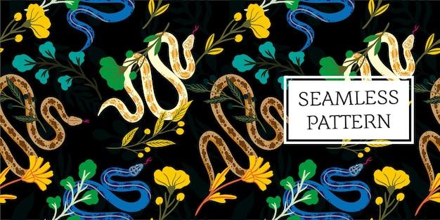 Foglie senza cuciture e stile alla moda serpente