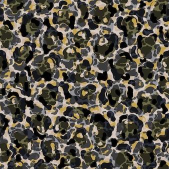 Modello senza cuciture leopardo pelliccia animale piatta in stile astratto artistico in pelle forma spot