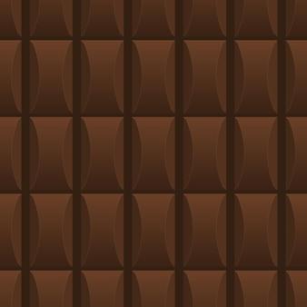 Modello senza cuciture realizzato con delizioso cioccolato al latte. foto infinita. stile cartone animato. illustrazione vettoriale.