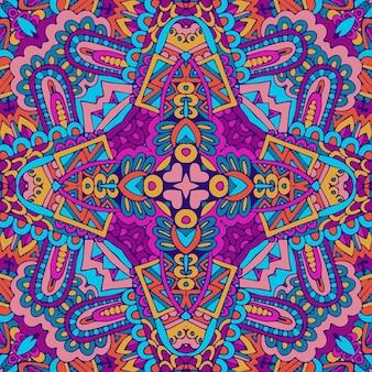 Trama di arte mandala senza cuciture per tessuto. progettazione ornamentale d'annata del tessuto di lerciume geometrico astratto.