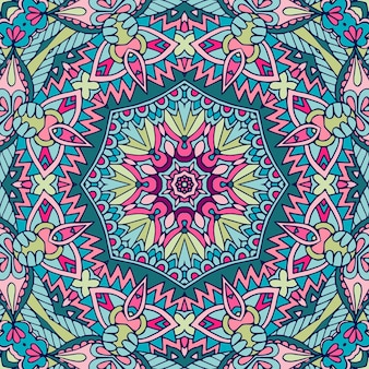 Seamless pattern mandala art texture per tessuto