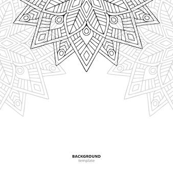 Seamless pattern. elemento decorativo mandala.