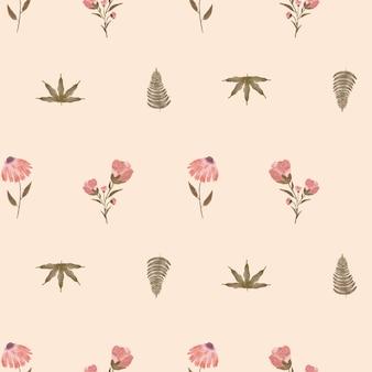 Acquerello floreale rosa senza cuciture dipinto a mano con colori pastello