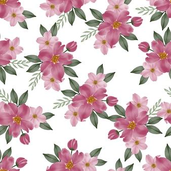 Modello senza cuciture di bouquet di fiori rosa