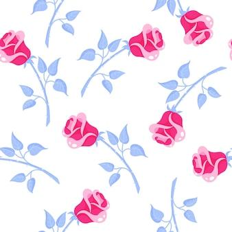 Modello senza cuciture di rose rosa per il matrimonio