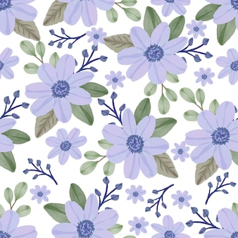 Modello senza cuciture di fiori viola