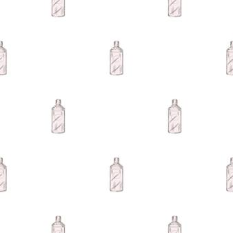Modello senza cuciture retrò bottiglia cinese su sfondo bianco. modello di struttura geometrica per ristorante menu.