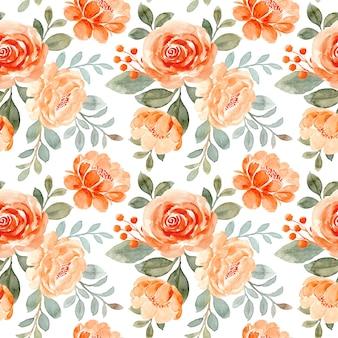 Modello senza cuciture dell'acquerello del fiore di rosa