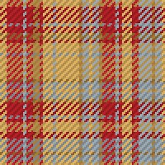 Modello senza cuciture del plaid scozzese scozzese. sfondo ripetibile con trama del tessuto a quadri. sfondo vettoriale piatto di stampa tessile a righe. Vettore Premium