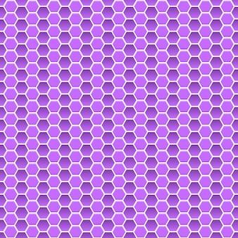 Modello senza cuciture di piccoli esagoni nei colori viola