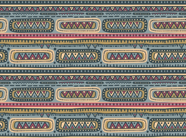 Modello senza soluzione di continuità per il design tribale. motivo etnico geometrico