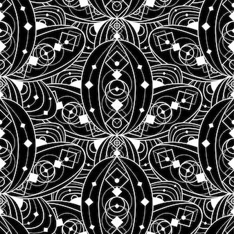 Modello senza cuciture vettore. struttura astratta alla moda moderna. ripetizione di elementi di piastrelle geometriche, decorazione creativa sfondo vintage design
