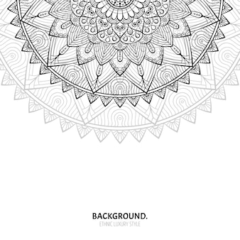 Seamless pattern. elementi decorativi vintage. sfondo disegnato a mano