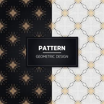 Seamless pattern. elementi decorativi vintage. ornamenti d'oro disegnati a mano.