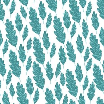 Modello senza cuciture con foglie e fiori di palma tropicale astratta. illustrazione vettoriale.