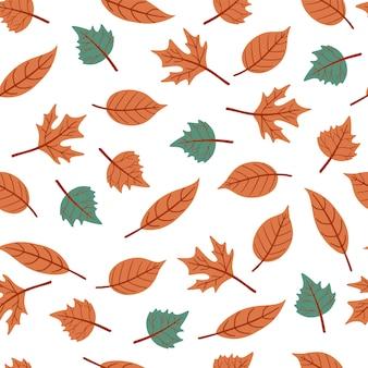 Modello senza saldatura con foglie d'autunno