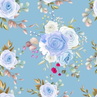 Modello senza cuciture con bellissimi fiori