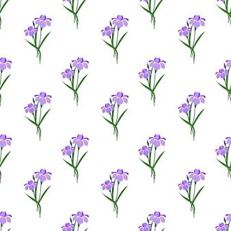 Modello senza cuciture con pianta foglia fiore botanico