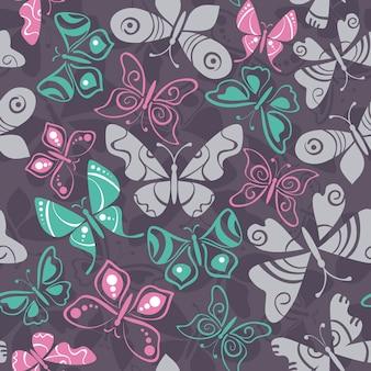 Modello senza cuciture con farfalle