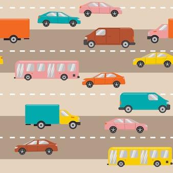 Modello senza soluzione di continuità con le auto