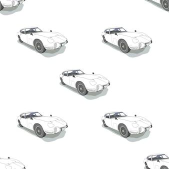 Modello senza cuciture con le automobili